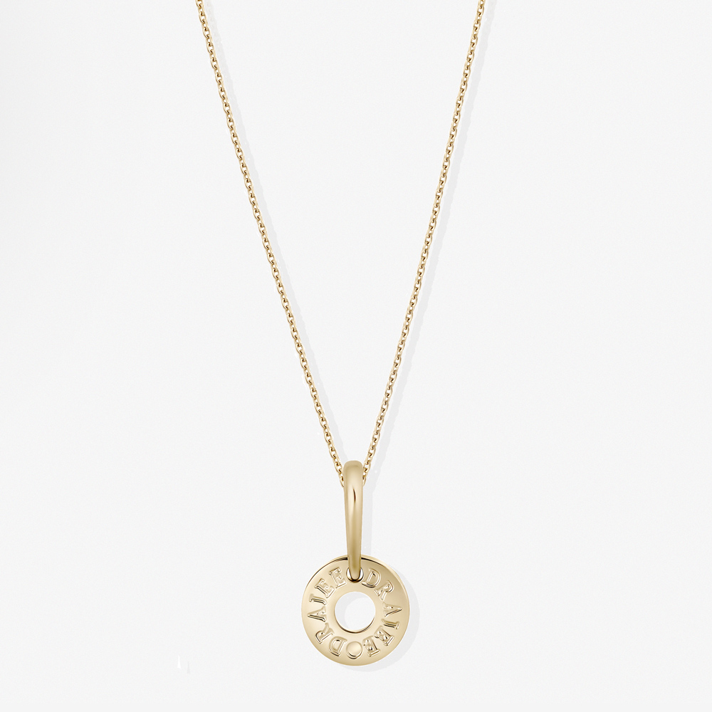 Jewellery necklaces pendants 18ct yellow gold draje circle jewellery necklaces pendants 18ct yellow gold draje circle pendant draje london jewellery aloadofball Image collections